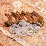 Баранья корейка на мангале